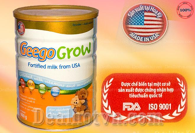 Sữa bột Geego Grow 900 gr từ 1 – 3 tuổ