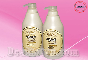 Sữa Tắm Trắng Da Milk LifeSpa - 500ml, chiết xuất từ sữa Bò, nhập khẩu từ Nhật Bản. Giảm giá sốc chỉ còn 95.000đ. Chỉ có tại Dealhotvn.com!!