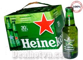 Thùng 20 Chai Bia Heineken Nhập Khẩu Pháp 250ml/chai – Loại bia phổ biến đem lại sự ngon miệng Cho các bữa ăn và mang mọi người đến gần nhau hơn. Chỉ với giá 430,000đ