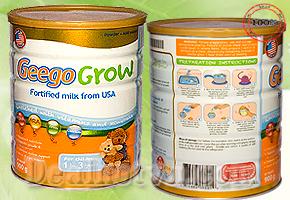Sữa bột GeeGo Grow 900gr nhập khẩu 100% từ Hoa Kỳ Sữa dành cho trẻ từ 1 – 3 tuổi chỉ với giá 175.000đ đang có tại Dealhotvn.com!