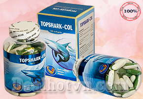 Viên Nam Sụn Cá Mập Topshark-Col Kết Hợp Sụn Vi Cá Mập, Vitamin E và Collagen Giúp Điều Trị Các Bệnh Xương Khớp, Giúp Sáng Mắt và Ngăn Ngừa Lão Hóa. 215.000Đ cho sản phẩm trị giá 350.000Đ.