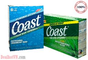 Lốc 8 Cục Xà bông Coast Cho Bạn Cảm Giác Thoải Mái Sạch Sẽ Suốt Cả Ngày Với Hương Thơm Dịu Nhẹ. Chỉ với 129,000đ Cho Trị Giá 240.000đ đang bán tại dealhotvn.com!