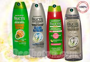 Chỉ 98.000đ bạn đã sở hữu 01 chai dầu gội  trị gàu + tóc khô Garnier Fructis sản phẩm chăm sóc tóc chuyên nghiệp từ Mỹ - Phục hồi tóc khô, yếu và hư tổn, tóc nhuộm, tóc thường, tóc bị gàu - Cho mái tóc suôn và mềm mượt sạch gàu trị giá 180.000đ – Tiết kiệm 46%.