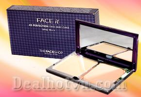 Trang điểm cho gương mặt hoàn hảo giúp phụ nữ tự tin hơn trong cuộc sống. Với phấn nền Face it Thefaceshop với chỉ số chống nắng SPF 42 PA ++ làn da bạn trở nên hồng hào quyến rũ. Chỉ với giá 79.000đ.