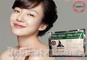 Gói tắm trắng WHITE HENNA được sử dụng rất nhiều trong các viện chăm sóc da và spa chuyên nghiệp. Ngoài tác dụng làm trắng sáng làn da, kem còn giúp làn da của bạn mịn màng giá chỉ 125.000đ.