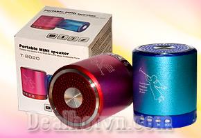 Loa Mini Portable Mini speaker T2020, Thế hệ mới với kiểu dáng thật sành điệu âm thanh cực hay pass, cực đã với đa màu sắc thật đẹp tiện dụng khi du lịch cảm nhận âm thanh cực đã qua Loa Mini 4 IN 1 này tại Dealhotvn.com!