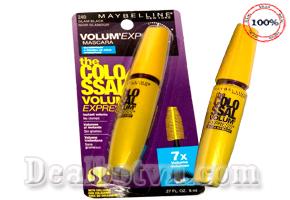Mascara Maybelline Colossal Volum Express 7x -  8ml Chính Hãng USA: Làn mi cong vút tự nhiên dài hơn 7 lần. Chỉ 140.000đ cho sản phẩm trị giá 240.000đ.