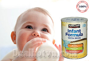SỮA BỘT KIRKLAND SIGNATURE INFANT FORMULA WITH IRON 1.02 KG - USA