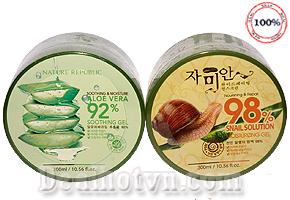 Chỉ với 59.000đ sở hữu ngay sản phẩm Gel mặt nạ dưỡng da nha đam và dịch ốc sên, với thành phần chiết xuất từ 99% nha đam, 98% dịch ốc sên có tác dụng làm da mịn màng, trắng sáng - tiết kiệm 47% so với giá thị trường 110.000đ.