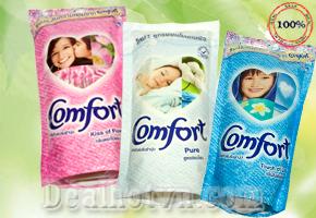 Combo 3 gói nước xả vải Comfort Thái Lan - Lưu giữ hương thơm lâu hơn, cho quần áo luôn mềm mịn, thơm tho và dễ dàng gấp xếp. Chỉ 82.000đ cho trị giá 150.000đ.