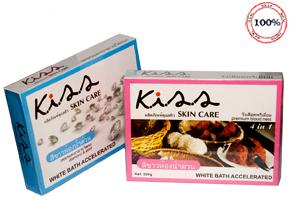 Kem Tắm Siêu Trắng Kiss 4 in 1 – hàng nhập khẩu Thái Lan - Giúp tắm trắng toàn thân ngay từ khi mới sử dụng. Giảm giá hot còn 58.000đ cho sản phẩm trị giá 120.000đ.