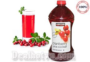 Bổ sung năng lượng và vitamin thiết yếu cho cơ thể với các sản phẩm Nước ép trái cây Cranberry ( quả Việt Quất) – 2,84 lít  nhập khẩu từ Mỹ thương hiệu Kirkland. Giảm giá 170.000đ.