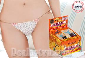 Tự tin diện bikini gợi cảm nhờ Kem dưỡng trắng vùng bikini Mayfair với giá hấp dẫn. Sản phẩm trị giá 180.000đ nay giảm còn 99.000đ. Chỉ có tại Dealhotvn.com!