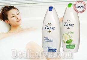 Sữa tắm Dove nhập khẩu Mỹ 710ml - Cho làn da mịn màng, êm ái và lưu giữ hương thơm dịu dàng, sang trọng suốt cả ngày với công nghệ tiên tiến giúp chăm sóc da hoàn hảo hơn. Chỉ 180.000đ cho trị giá 280.000đ.