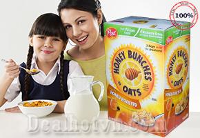 Ngũ cốc ăn sáng ướp mật ong 1,36kg Honey Buches of Oats hàng nhập khẩu từ Mỹ
