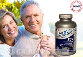 One a Day For Men bổ sung vitamin, khoáng chất thiết yếu và phù hợp cho cơ thể đàn ông tuổi 50+, hỗ trợ xương khớp, tăng cường trí nhớ, bảo vệ tim mạch, giảm nguy cơ cho tuyến tiền liệt. Hộp 200 viên hàng nhập từ Mỹ. Giảm giá còn 575.000đ.