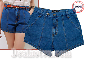 Quần Short Jeans bụi Thái Lan Cao cấp Nữ - Kiểu dáng lưng ngang hợp mốt, mạnh mẽ - Cho Bạn Gái Phong Cách Thời Thượng, Cá Tính. Giá 360.000đ, Còn 180.000đ.