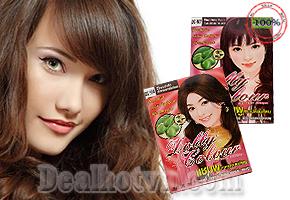 Dầu Gội Màu Tóc hiệu Dolly hàng chính hãng Thái Lan- Thật bất ngờ với mái tóc lấp lánh ánh màu tự nhiên cho các bạn gái trở nên tự tin trước người ấy cùng dạo phố. Giảm giá combo 5 gói 149.000đ.