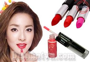 Son môi 2 đầu Sivanna Lipstick Lip Gloss, thiết kế khá hiện đại và bắt mắt, một đầu là son nước và một đầu là son thỏi giúp bạn gái thể hiện được phong cách, sự sành điệu. Chỉ  65.000đ cho trị giá 110.000đ.