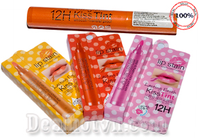 Son môi Land bis Kiss Tint dạng bút dạ, dùng vẽ lòng trong, màu son tự nhiên lên màu chuẩn, không trôi, mềm mịn môi là sự lựa chọn của các gái cá tính giảm giá 49.000đ.