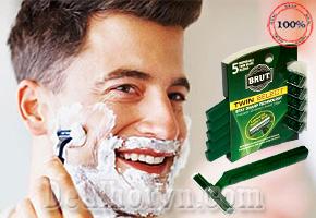 4 Vỉ 20 Dao Cạo Lưỡi Kép BRUT Sản Xuất  Mexico và Hàn Quốc, được đấng mày râu ưa chuộng chỉ với giá 95.000đ đang có tại Dealhotvn.com!