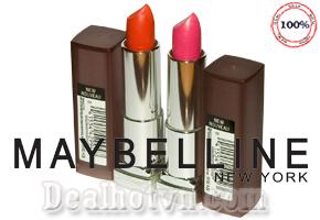 Son Môi Lì Lâu Phai Maybelline New Nouveau của thương hiệu Mỹ Phẩm Maybelline 100% hàng chính hãng có sắc màu rực rỡ, lâu phai. Giảm giá sốc còn 135.000đ tại Dealhotvn.com!