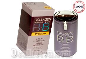 Kem nền BB collagen Cellio nhập khẩu Hàn Quốc với tác dụng trắng da, chống tia tử ngoại UV, chống nhăn và chống lão hóa với độ che phủ hoàn hảo mang lại độ đàn hồi và làn da mịn màng một cách tự nhiên nhất. Giảm giá còn 185.000đ.