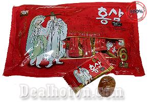 Combo 2 bịch Kẹo Nhân Sâm Ông Già Bà Lão  Red Ginseng  200g - Korea
