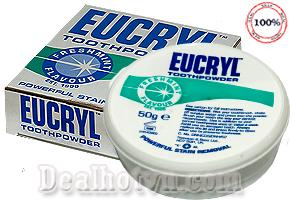 Bột làm trắng răng EUCRYL - Giúp làm sạch, làm đẹp răng miệng của bạn một cách hiệu quả mà đơn giản ngay tại nhà - Sản phẩm cao cấp chính hãng, nhập khẩu từ Anh, đảm bảo chất lượng và uy tín - Chỉ 85.000đ cho trị giá thực 150.000đ.