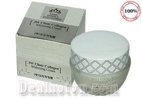 Kem dưỡng trắng da 3W Clinic Collagen - Với tinh chất collagen giúp da luôn mịn màng căng mọng đầy sức sống mang lại vẻ đẹp tự nhiên thật cuốn hút cho bạn gái. Chỉ 155.000đ cho trị giá 280.000đ.
