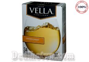Hộp Rượu Vang Vella Chardonnay Of California - Mỹ