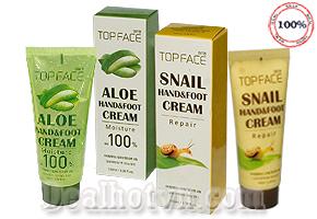 Kem dưỡng da tay & chân Top Face chiết xuất 100% từ dịch ốc sên và nha đam, là một biện pháp tuyệt vời để làm giảm nếp nhăn, làm sáng màu da chống khô da cho tay & chân luôn mềm mại. Giảm giá còn 65.000đ.