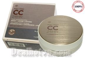 CC cream Full Stay CC 24HR SPF 50 PA+++ Triple lasting benefits: Moist + Cover + Fitting của TheFaceShop là một sản phẩm mang tính đột phá, mang nhiều tác dụng trong một sản phẩm - vừa dưỡng da, vừa chống nắng và vừa có tác dụng make up. Bảo vệ da bạn suốt 24h. Giá 310.000đ.