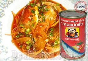 Combo 10 hộp Cá Nục Sốt Cà Hiệu Ba Cô Gái - Thái Lan được chế biến từ cá nục tươi cùng với nước sốt cà chua, có thể dùng ngay hoặc chế biến, kết hợp với các món ăn khác. Rất tiện lợi và tiết kiệm thời gian. Giá 135.000đ.