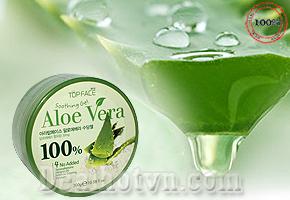 Gel dưỡng da lô hội Aloe Vera Arra Top Face 100% có khả năng thấm ướt, tạo ẩm độ trên da giúp da dễ đàn hồi, giảm bớt nếp nhăn, thu hẹp những mụn cơm hay mụn nhỏ khô cứng mọc trên da. Chỉ 95.000đ cho trị giá 200.000đ.