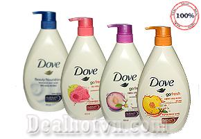 Sữa tắm Dove nhập Korea - Cho làn da mịn màng, êm ái và lưu giữ hương thơm dịu dàng, sang trọng suốt cả ngày với công nghệ tiên tiến giúp chăm sóc da hoàn hảo hơn. Chỉ 180.000đ cho trị giá 280.000đ.