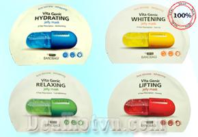 Combo 4 Mặt nạ Vitamin Genic Jelly Mask - chính hãng Korea. Với  chiết xuất 100% thiên nhiên giúp phục làn da khỏe mạnh và trắng sáng. Giá 160.000đ, Còn 95.000đ. Chỉ Có Tại Dealhotvn.com!