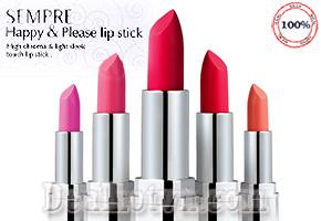 Son Geo Sempre Happy & Please Lipstick chính hãng Korea giúp môi trở nên căng mọng. Màu phớt nhẹ nhàng của dạng son này khiến nó trở thành thỏi son 2 trong 1 vừa dùng để dưỡng ẩm, vừa tô điểm cho môi thêm tươi tắn. Giá 95.000đ.