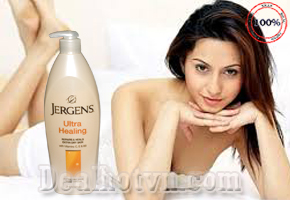 Sữa dưỡng thể dưỡng ẩm toàn thân dành cho da khô – Jergens Ultra Healing 621ml - chính hãng USA chứa lipid, vitamin E, C và B5 cùng các chất làm mềm da đem đến là da trắng ngời. Giá 190.000đ