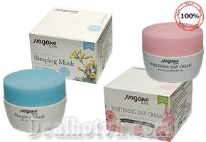 Bộ đôi kem dưỡng trắng da ngày và đêm Nagano - Nhật Bản giúp dưỡng trắng, bổ sung vitamin giúp da căng mịn giá chỉ có 360.000đ. Chỉ có tại Dealhotvn.com!
