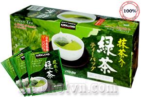 Trà Xanh Giảm Cân Green Tea A Blend 0f Sencha & Matcha Kirkland chiết xuất hoàn toàn từ thành phần thiên nhiên, không chứa chất bảo quản giúp bạn giảm bớt cảm giác thèm ăn, giảm cân hiệu quả. Giá  530.000đ.