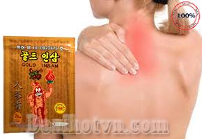 Cao dán đau nhứt hồng sâm Hàn Quốc Gold Insam gói 25 miếng dán được chiết xuất từ hồng sâm thấm trực tiếp vào da giúp giảm nhanh cơn đau, thúc đẩy vùng đau phục hồi và không gây hại cho da. Chỉ 65.000đ cho trị giá 120.000đ.