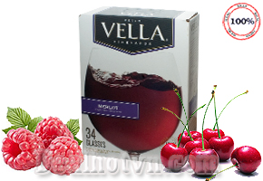 Rượu vang Vella hương Merlot New Look California Table Wine Thùng 5 lít nhập từ Mỹ được  làm từ 100% trái cây thiên nhiên, màu đỏ đầy lôi cuốn mang đến bạn một bữa ăn tuyệt vời và ngon miệng. Giá 540.000đ.