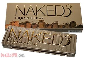 Phấn Mắt 12 tông màu Urban Decay Naked 3 - Thương Hiệu Mỹ Phẩm Nổi Tiếng Của Mỹ, Bảng Màu Phong Phú, Cho Cảm Giác Mịn Mượt Khi Trang Điểm. Giá 95.000đ