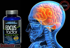 Viên uống Focus Factor Dietary Supplement chứa các Vitamin, khoáng chất, chất chống oxy hóa và Omega 3 giúp cải thiện trí nhớ, tăng khả năng tập trung trong vòng sáu tuần. Giá 610.000đ.