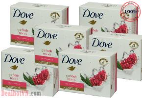 Chỉ với 149.000đ, bạn sở hữu combo 06 cục Xà phòng Dove tinh chất sữa và Lựu chính hãng nhập khẩu từ Đức - tiết kiệm và tiện lợi cho mọi nhu cầu vệ sinh trong gia đình!