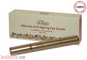 Kem Rosanna Ultimate Anti – Ageing Eye Cream – hàng chính hãng Úc Có tác dụng làm mềm và làm mất các nếp nhăn quanh mắt, cải thiện sự đàn hồi của da và độ săn chắc, phục hồi cấu trúc làn da. Giá 290.000đ