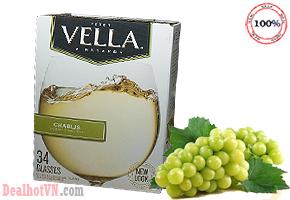 Hộp Rượu Vang Vella Chablis California Table Wine 5 lít - chính hãng Mỹ