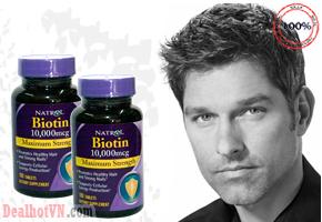 Viên uống mọc tóc Natrol Biotin 10.000mcg Maximum Strength hộp 100 viên hỗ trợ bổ sung Biotin điều trị tóc gãy rụng nhiều, móng tay khô cứng, giòn dễ gãy, biếng ăn, viêm da, viêm màng kết, thúc đẩy tóc mọc dài đẹp. Giá 210.000đ.