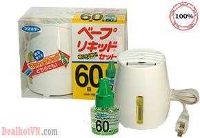 Máy đuổi muỗi 60 ngày – hàng chính hãng Nhật Bản có tinh dầu đi kèm. Công nghệ tiên tiến, hiệu quả tuyệt đối. Tinh dầu đuổi muỗi chiết xuất từ thiên nhiên, không gây độc hại cho người dùng đặc biệt là trẻ nhỏ. Giảm giá 259.000đ.